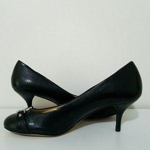 MICHAEL Michael Kors Shoes - Michael Kors Leather Kitten Heels Pumps Size 8M